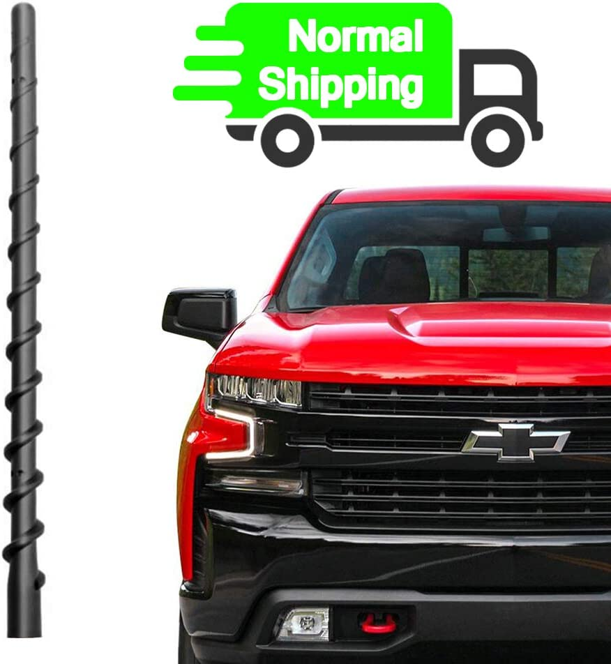 |Direct Replacement Antenna Accessories 2009-2020 13 inch Upgraded Antenna Fit Chevy Silverado 1500 2500 3500 and GMC Sierra