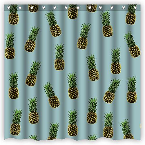 Atwtow Retro Beautiful Fresh Green Golden Pineapples Trop...