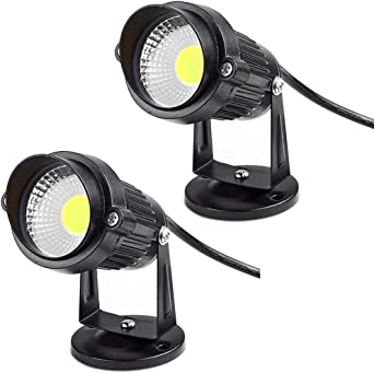 2x Focos Proyector LED Exterior Jardín IP65 COB 5W 220V Blanco Frío: Amazon.es: Iluminación