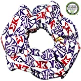 Sigma Kappa Sorority Scrunchies Officially Licensed Greek Letters Print Ponytail Holders Scrunchie King Made in the USA