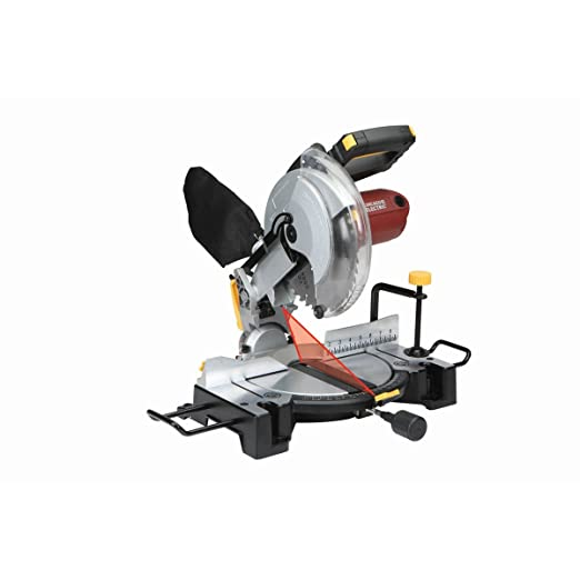 10 inch compound miter saw with laser guide system bevel 45 deg 10 inch compound miter saw with laser guide system bevel 45 deg leftright tools products amazon greentooth Gallery