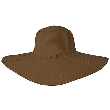 Amazon.com: Luxury Lane mujeres café sombrero de ala ancha ...