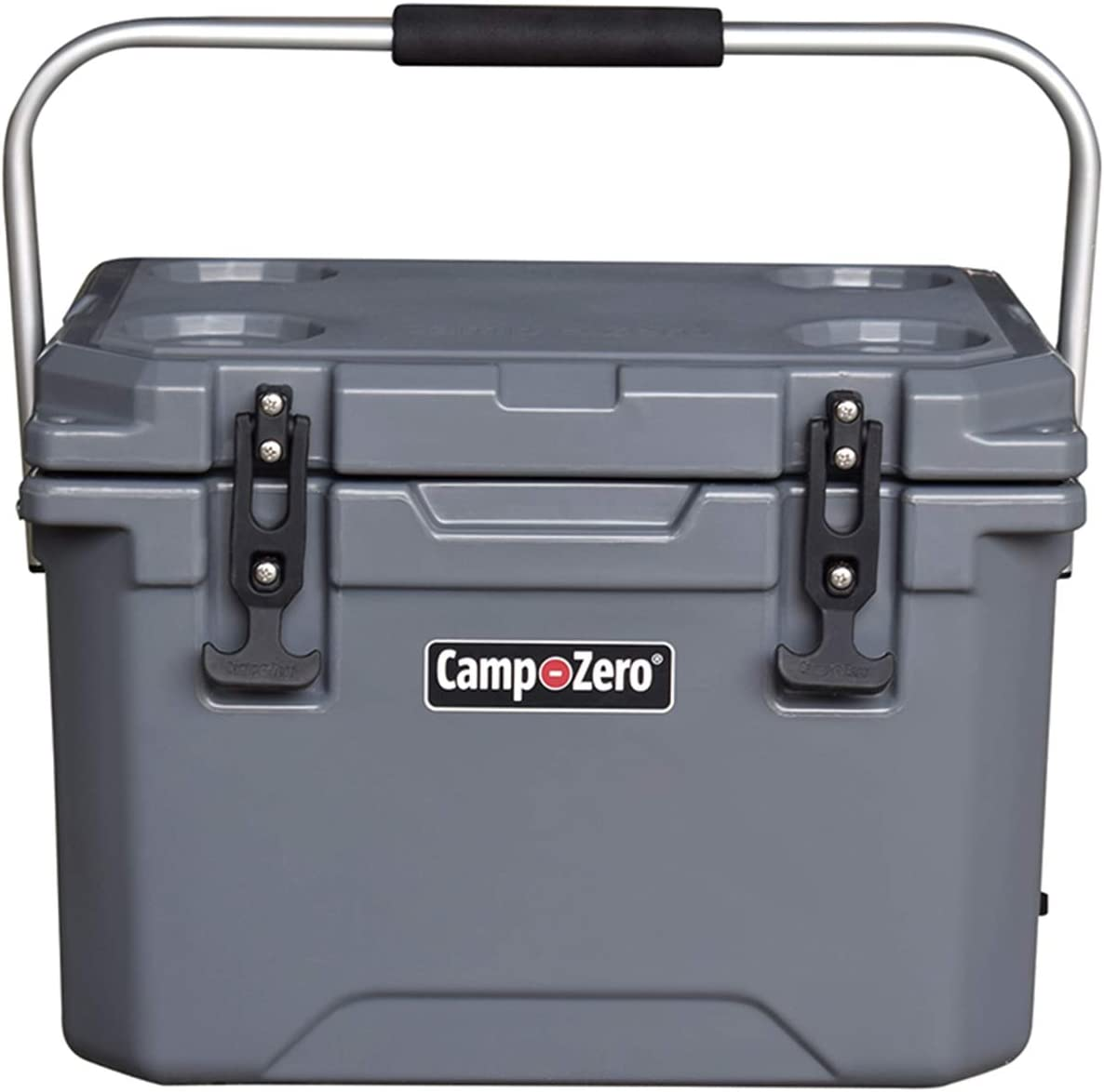 21.13 Quart Premium Cooler//Ice Chest with 4 Molded-in Cup Holders CAMP-ZERO 20L White