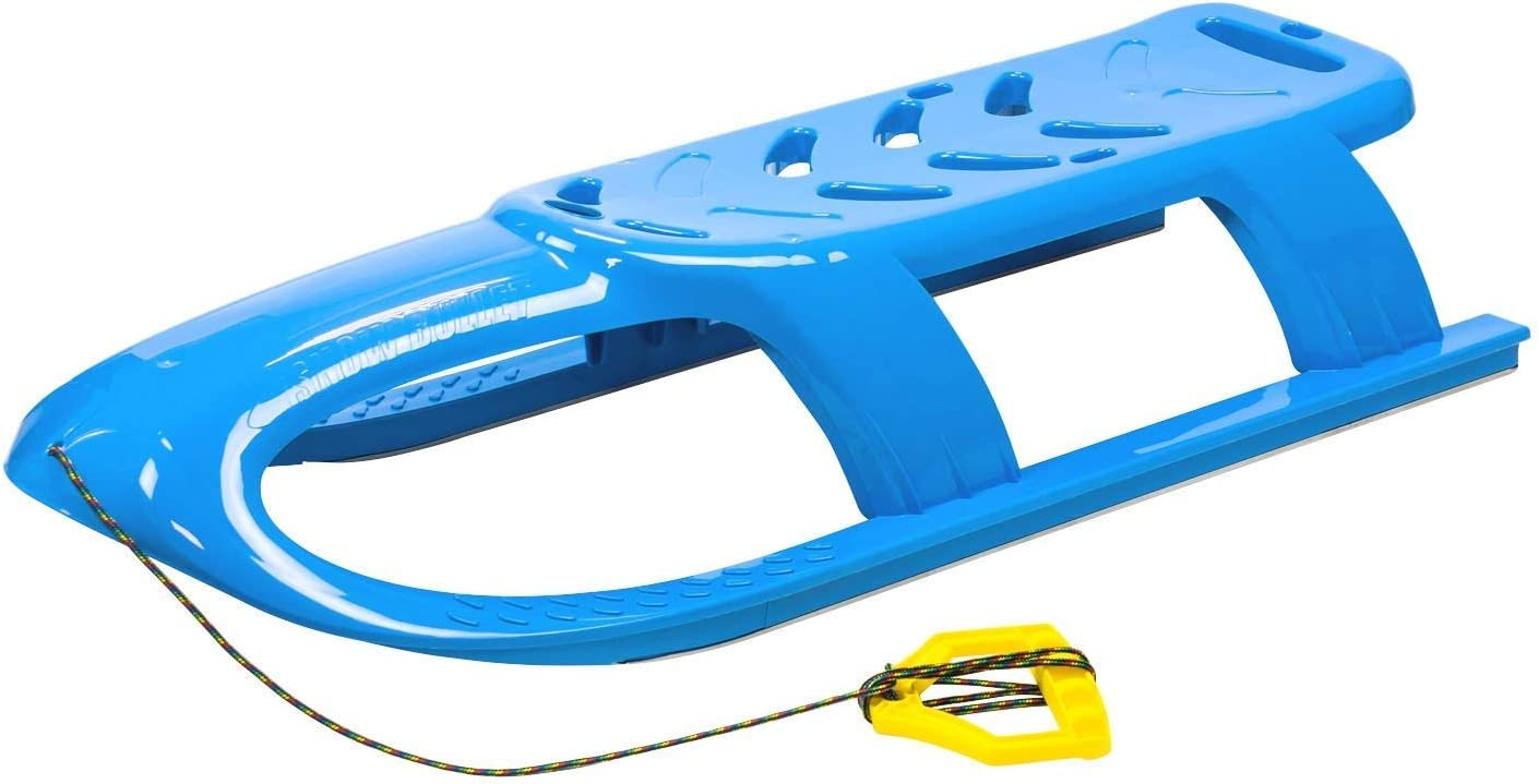 Prosperplast Schlitten Kinderschlitten Rodel mit Zugseil BULLET blau