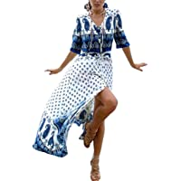 Bsubseach baddräkt dam strandklänning lång badmode cover up caftan dress strandponcho sommar