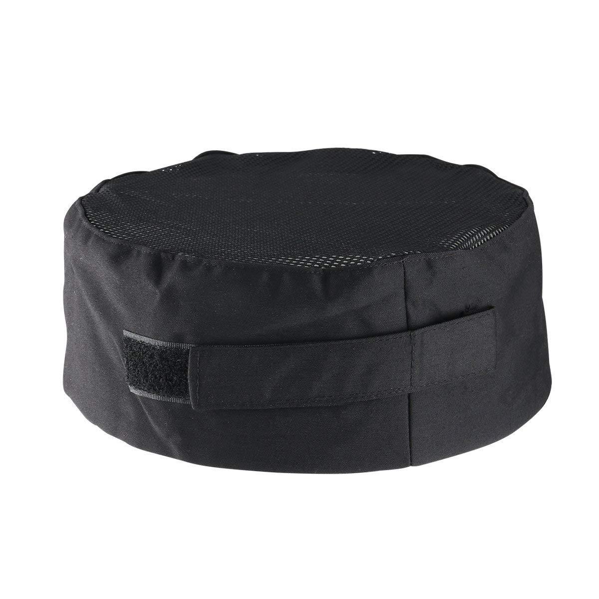 biggroup Black Adjustable Chef Hat Mesh Top Skull Cap Professional Catering Chef Hat