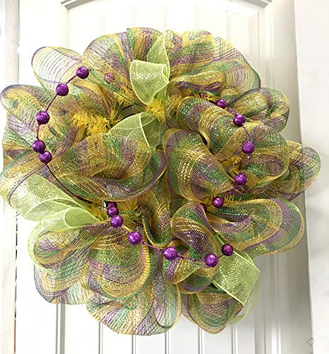 Mardi Gras Door Wreath -