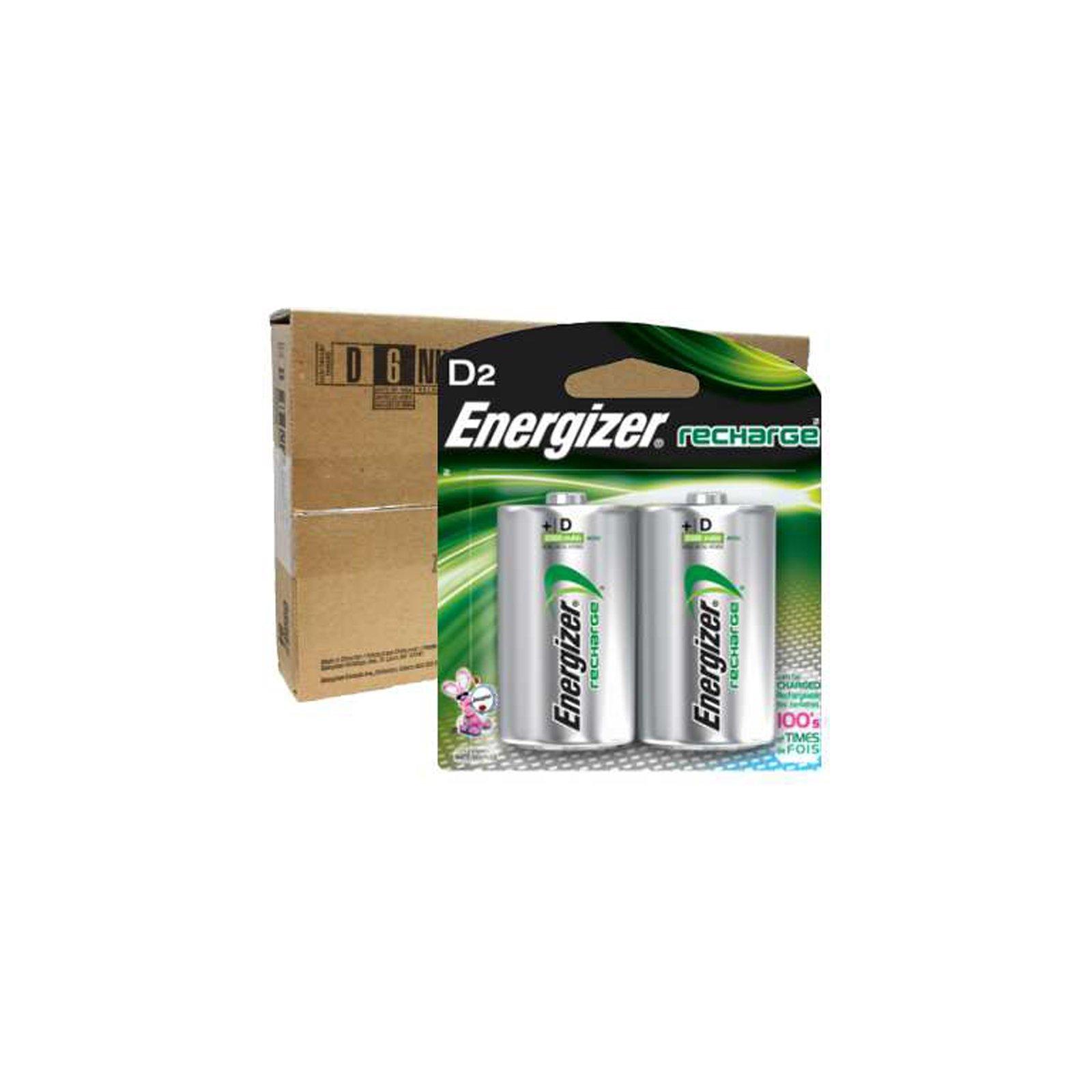 Energizer Recharge D Size Rechargeable Batteries NiMH 1.2V 12pk