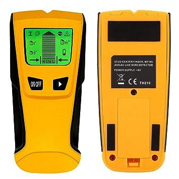 Frifer Detector de Materiales 3 en 1 Detector eléctrico Pared Stub Finder Detector de Metal/inalámbrico AC/Madera/tensión: Amazon.es: Hogar