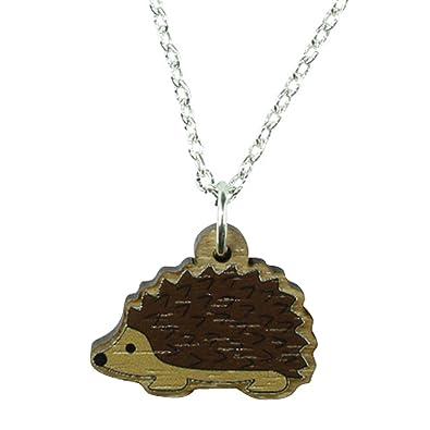TFB - Funky de madera erizo colgante collar - caja de regalo ...