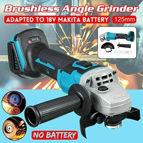 sans Fil brushless 18V sans Fil 125mm 4-1//2 Pouces Outil Seulement Meuleuse Angulaire Angle Grinder commutateur /à glissi/ère Pas de Batterie 18V Li-ION Compatible avec pour Makita