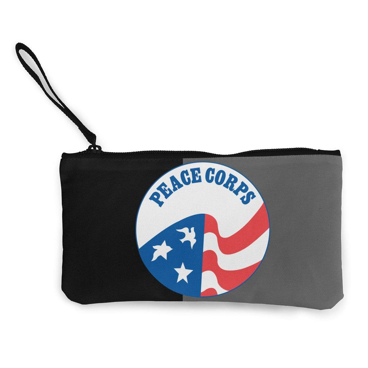 2000px-US-PeaceCorps-Logo.svg Unisex Canvas Coin Purse Wallet Coin Purse Canvas Zipper Wallet