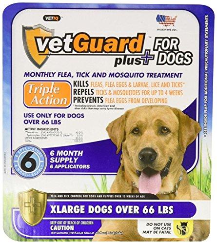 VetGuard Plus Flea & Tick Drops for X-Large Dogs 6 month ...