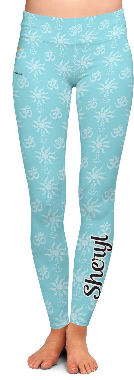 Sundance Yoga Studio Ladies Leggings - Extra Large (Personalized) Blue