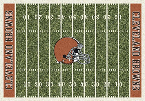 Brown Multi Colored - Milliken Cleveland Browns NFL Team Home Field Area Rug, 5'4