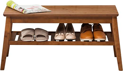 Shoe Rack Bench Newvante Bamboo Storage Organizer with Seat for Hallway Entryway Furniture