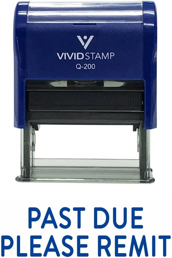 Past Due Please REMIT Self Inking Rubber Stamp Medium Red Ink