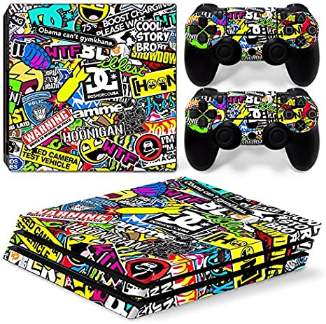 Sony PS4 Playstation 4 Pro Skin Design Foils Pegatina Set ...