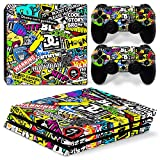 MODFREAKZ™ Console and Controller Vinyl Skin Set - WTF Sticker Bomb for PS4 Pro
