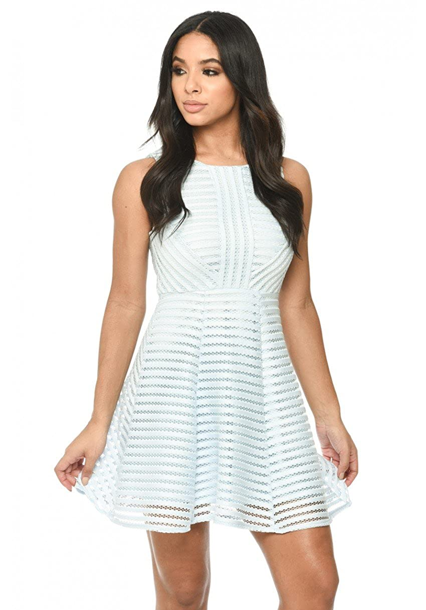 848d9761fe Feel fabulous in this light flirty A line dress with mesh detail perfect  for a classy night out with the girls. Style with an amazing clutch and  barely ...