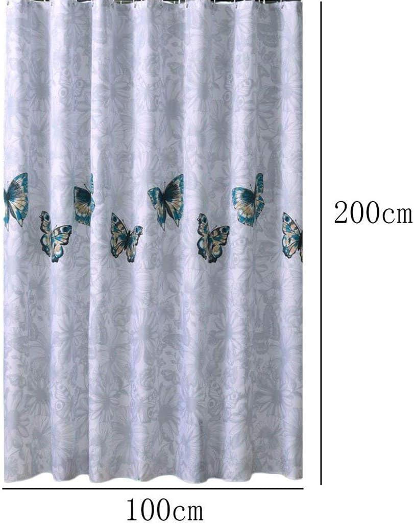 weimay Patron de papillon Rideau de douche Extra /épaisse avec anneaux avec comptes non toxique et /écologique 72/x 32/ 80*180cm