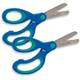 Lefty's Blunt Tip True Left Handed Scissors for Kids, Two Pack (Blue two-tone)