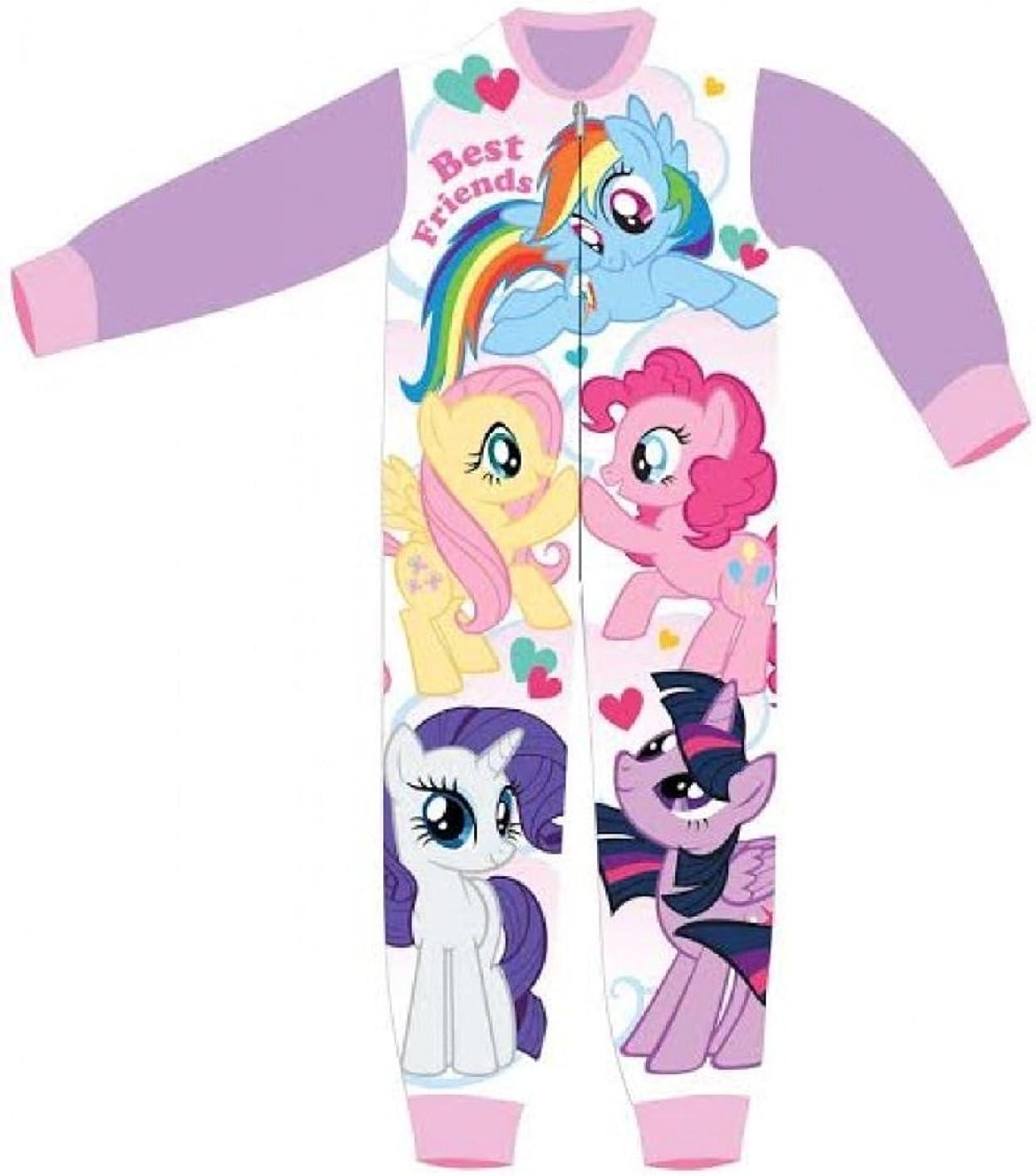 Girls Licensed My Little Pony Rainbow Dash Fluttershy Print Micro Fleece Onesies Age 3 to 8 Years