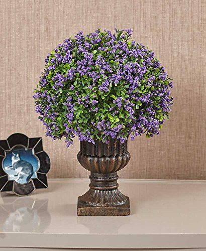 Floral Urn - The Lakeside Collection Decorative Urn with Faux Florals