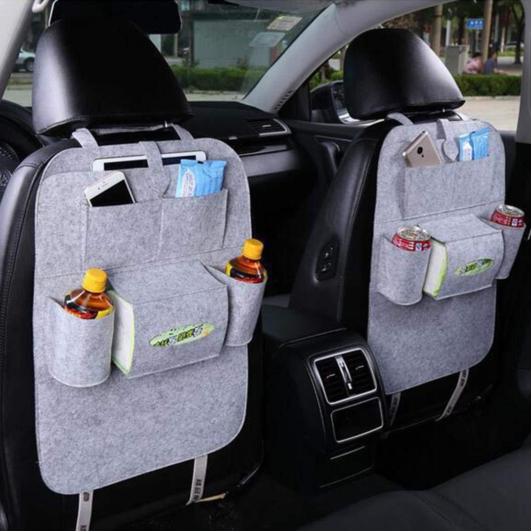 Fantiff Bolsa de almacenamiento para asiento de autom/óvil Funda de fieltro multibolsillo para autom/óvil Organizador para almacenamiento de organizador Organizadores para coche