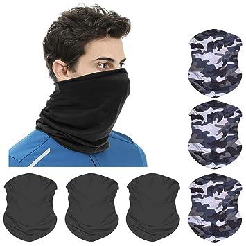 Balaclava Neck Gaiter Headband for Cycling Skateboarding,Multi-Use Tube Scarf Head Face Scarf Snood Head Hand Wear Running TTlove 3D Headwear,Magic Scarf Bandana Motorcycling