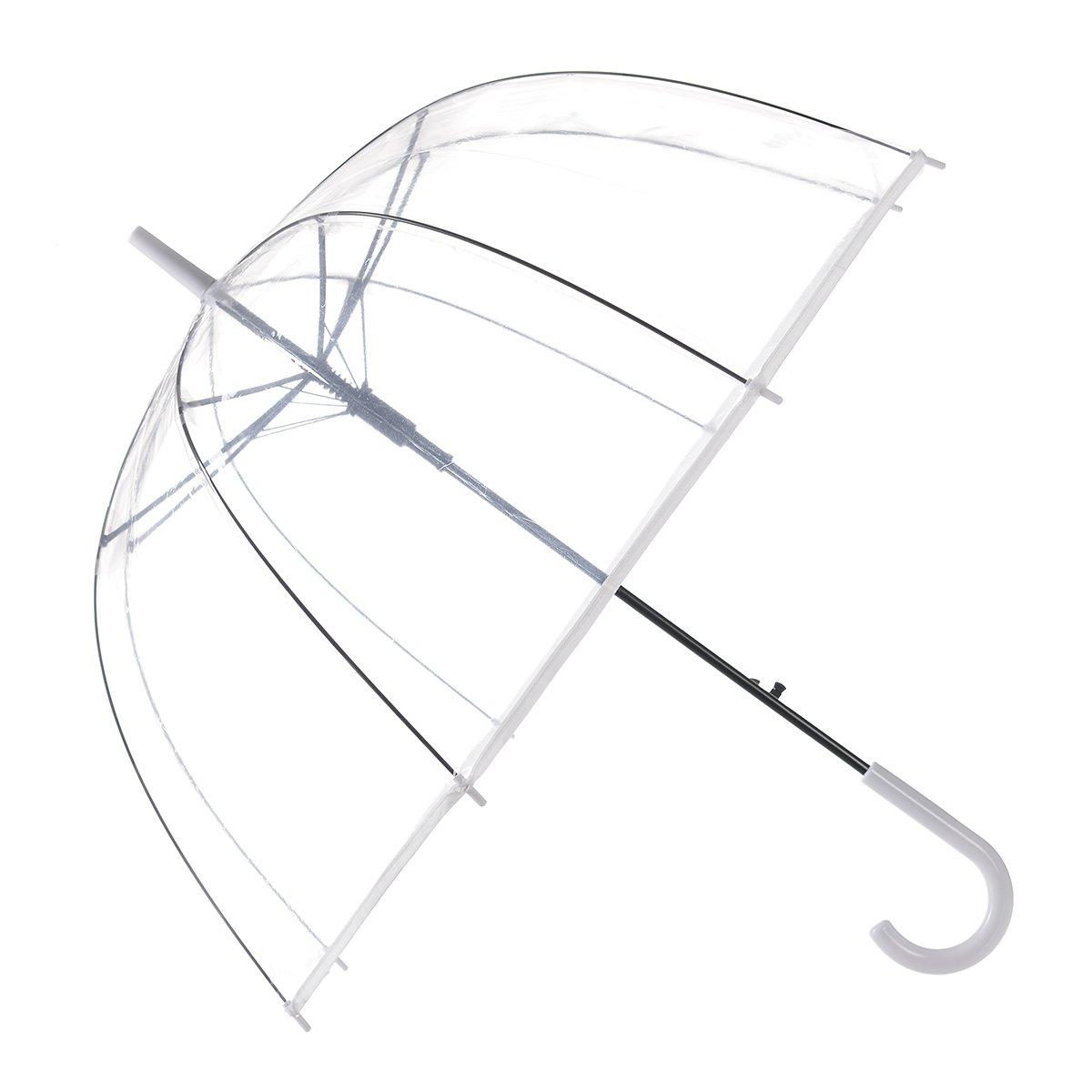 Remedios Durchsichtiger Regenschirm Transparent Clear Automatische Offen Schirm LWDEGYS160006B