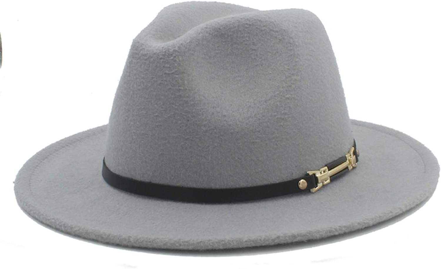 KKONION Fedora Hats for Gentleman Elegant Lady Winter Autumn Floppy Cloche Wide Brim Jazz