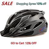 Ultralight Stable Road/Mountain Mens/Womens Bike Helmet-black