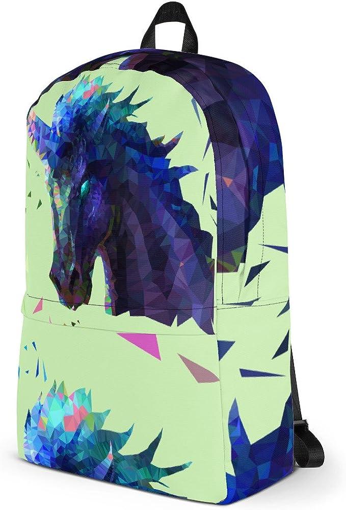 Lemoboy Geometric Low Poly Evil Unicorn Backpack for School