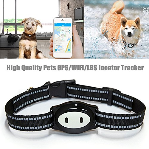 New Arrival GPS/WIFI/LBS Pets Locator Tracker Finder Mini Tracking Device IP68 Waterproof Sleeping Monitoring Feeding Reminder GPS Location Finder With 120H Standby Ksruee by Ksruee
