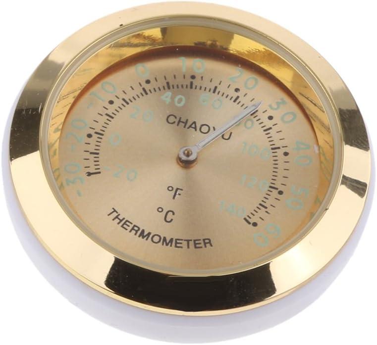 hoher Genauigkeit non-brand Thermometer f/ür Auto innen oder au/ßen um 360 Grad gedreht Schwarz