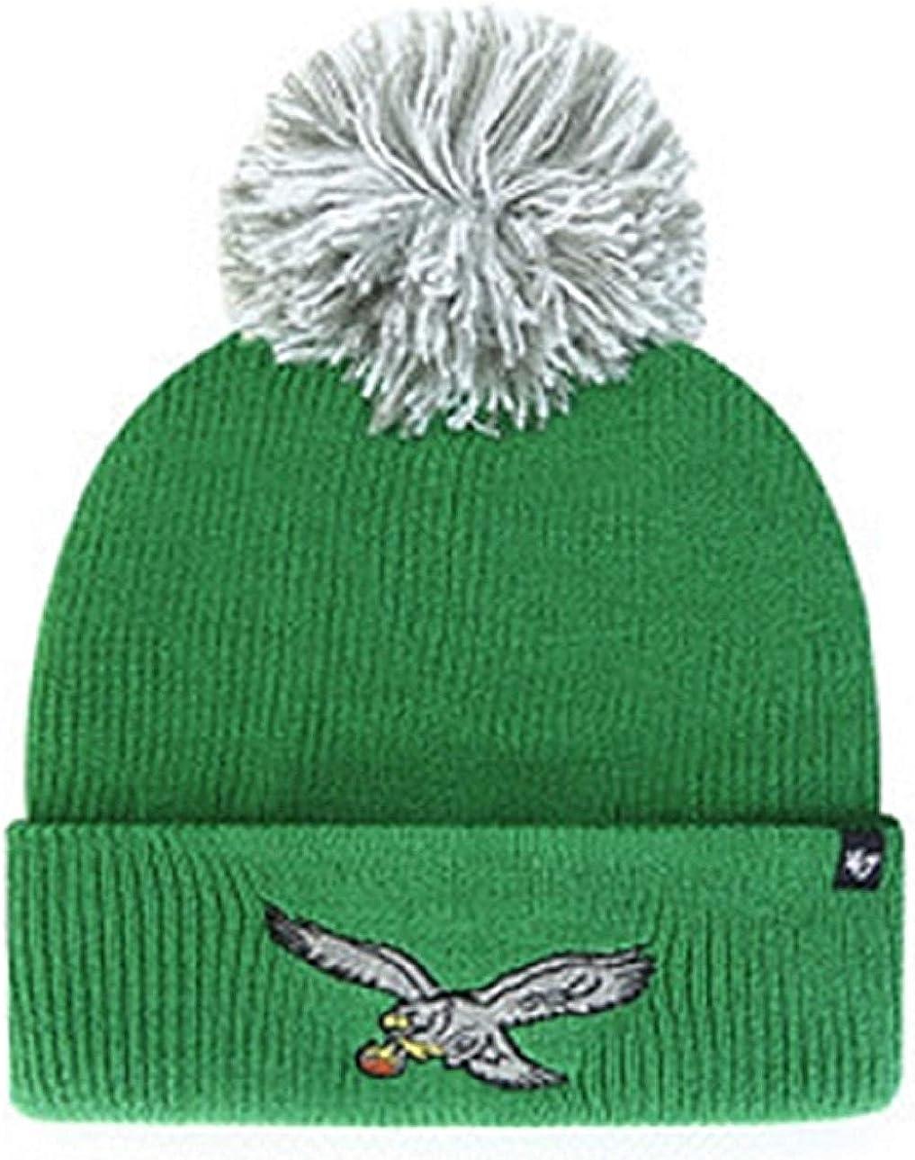 NFL Premium Cuffed Winter Knit Toque Cap 47 Brand Fashion Cuff Beanie Hat with POM POM