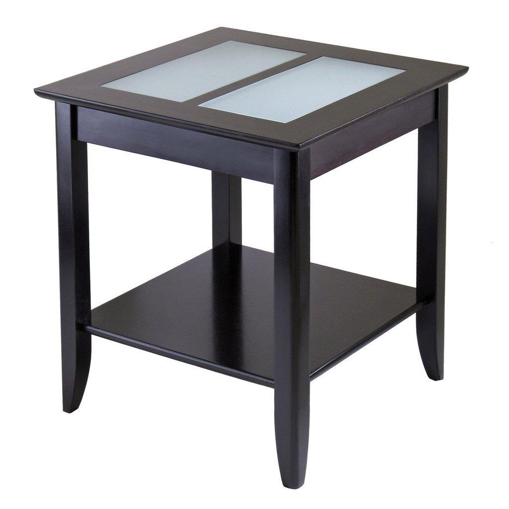 Huangsen Syrah End Table with Frosted Glass