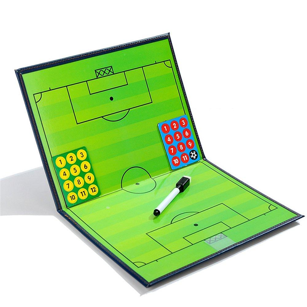 Gracelaza Carpeta Táctica Plegable Portátil para Entrenador de Fútbol - Pizarra Estrategia Profesional para Entrenamiento de Soccer (Dimensiones ...