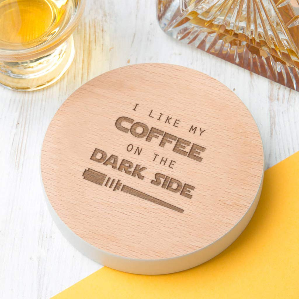 I Like My Coffee On The Dark Side Star Wars Coasterstar Wars Home Accessoryfunny Star Wars Gifts For Menstar Wars Novelty Giftscoffee Lovers