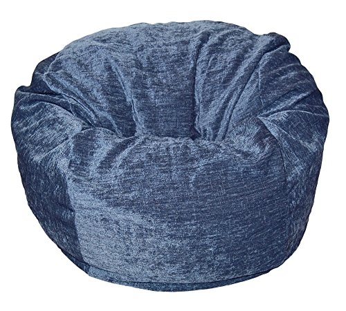 Ahh! Products Navy Chenille Washable Large Bean Bag Chair by Ahh! Products