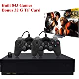 Retro Game Console, HD Video Game Consoole 843 Classic Games 4K HDMI TV Output with 2PCS Joystick for a Great Gifi for…