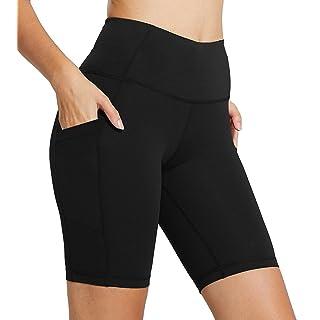 "FIRM ABS Women's 4""/8"" High Waist Workout Yoga Shorts Half Tights Tummy Control"