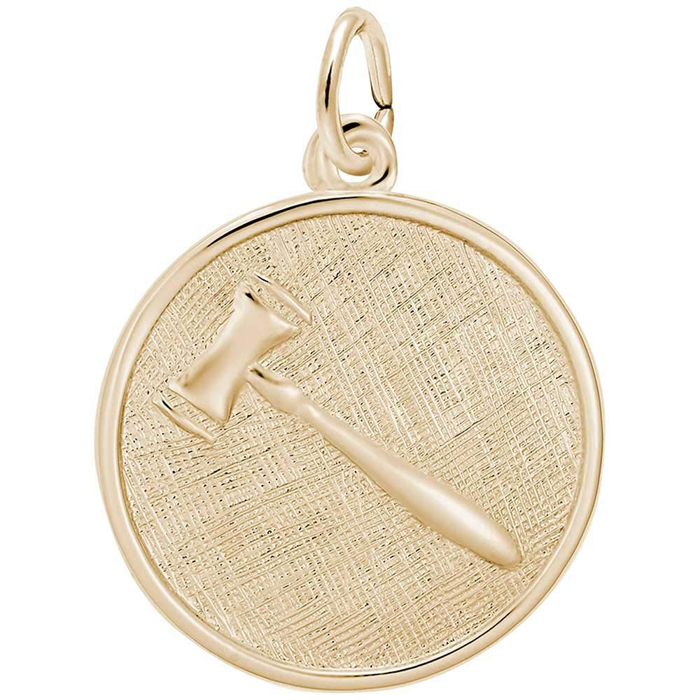 Rembrandt Charms Gavel Charm 10K Yellow Gold