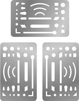 3 Packs Erasing Shield Stainless Steel Letter Shield Craft Drawing Drafting Tool