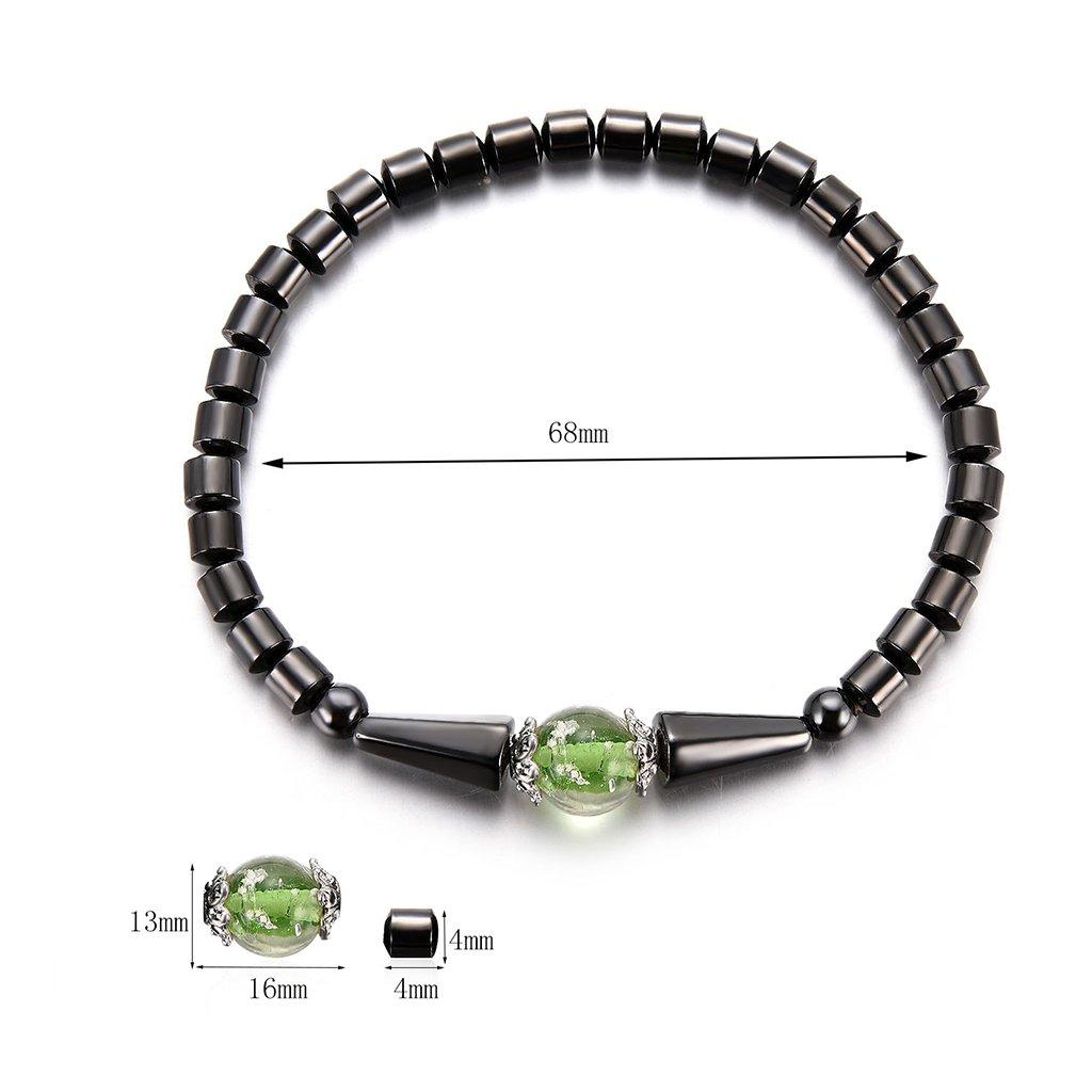 Sarora Anklet,Magnetic Anklet Hematite Stone Ankle Bracelet Health Care Wegitht Loss Jewelry