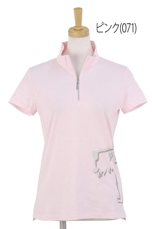 半袖ハーフジップポロシャツ レディース ヒールクリーク Heal Creek ゴルフウェア 002-29643 M(40) ピンク(071) B07RN521D4
