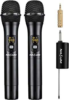 2-Pack Nasum UHF Dual Channel Wireless Karaoke Microphone