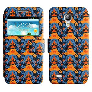 Be-Star Diseño Impreso Colorido Slim Casa Carcasa Funda Case PU Cuero - Stand Function para Samsung Galaxy S4 mini / i9190 / i9192 ( Cute Girl )