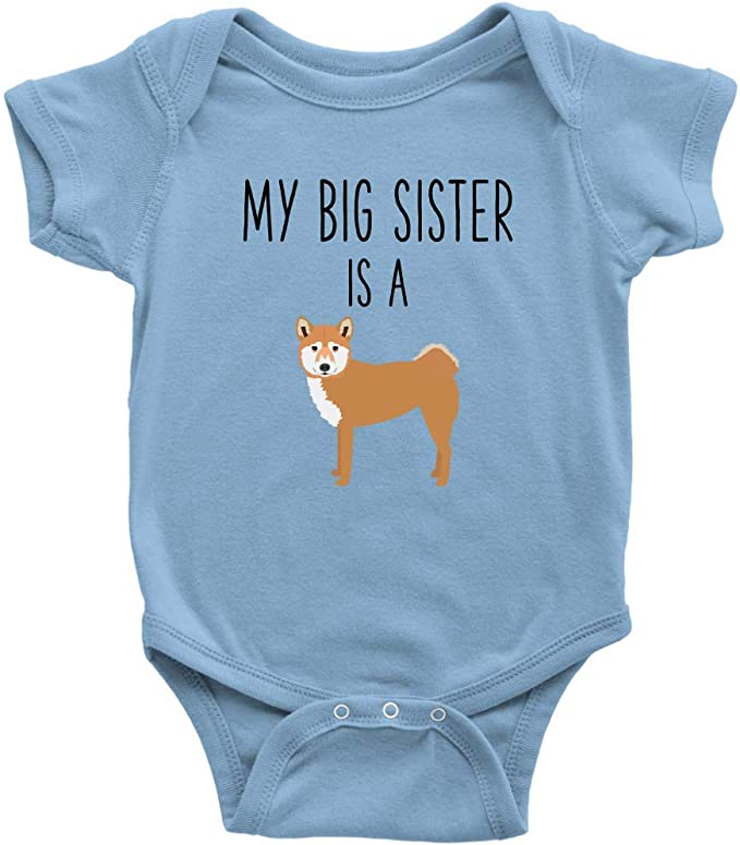 Personalized baby clothes My Big Sister Is A Chihuahua Gerber\u00ae Onesie\u00ae Baby Shower Gift Many Font Colors And Fonts.